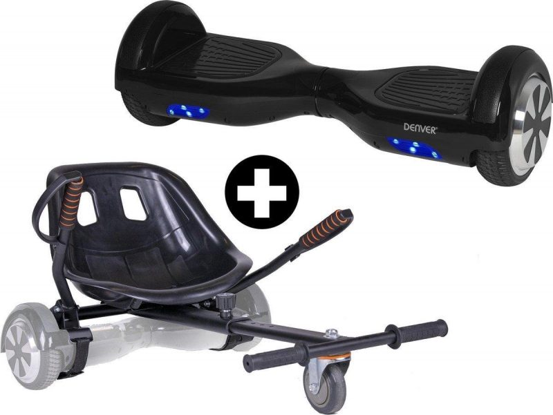 Denver HBO-6610 Black plus KAR-1550 - 6.5 inch hoverboard oxboard met hoverkart - Zwart