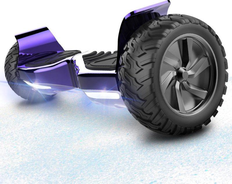Evercross Challenger Basic 8.5 inch SUV Hoverboard 700W Motion V.12 Bluetooth speakers en met TAOTAO moederbord - Paars Chroom