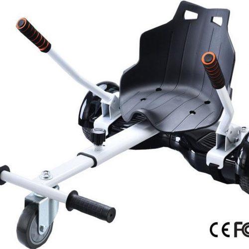 Hoverkart - Hoverseat voor Hoverboard - Wit met Zwart