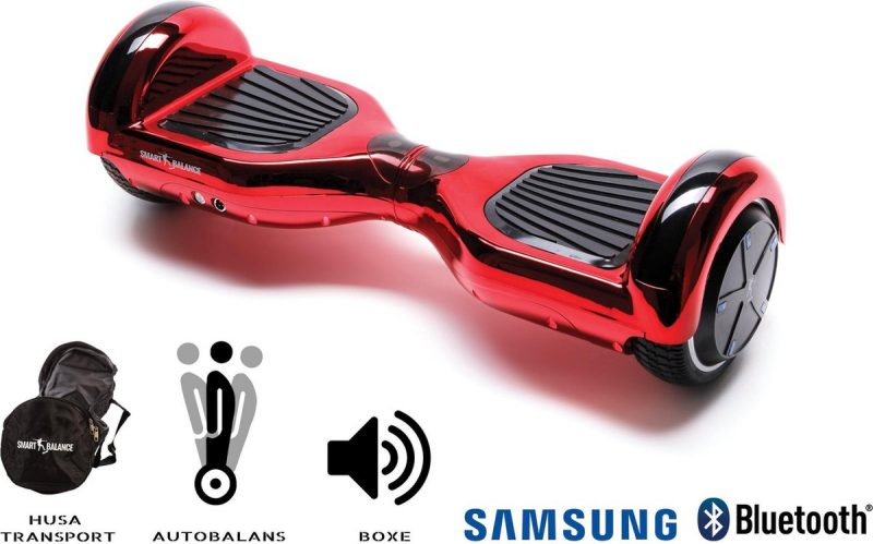 Smart Balance™ Hoverboard 6.5 inch, Regular ElectroRed, Motor 700 Wat, Bluetooth, LED