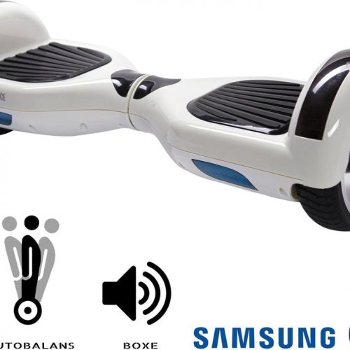 Smart Balance™ Hoverboard 6.5 inch, Regular White Pearl, Motor 700 Wat, Bluetooth, Built-in speakers, LED