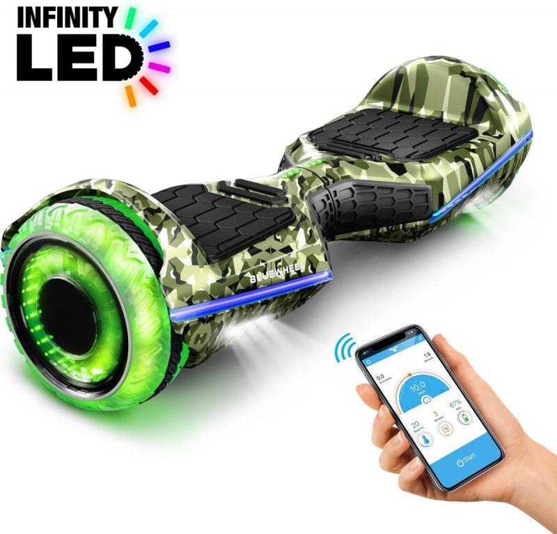 6,5 inch premium hoverboard Bluewheel HX360 - Duits kwaliteitsmerk - veiligheidsmodus voor kinderen - infinity LED-wielen & app