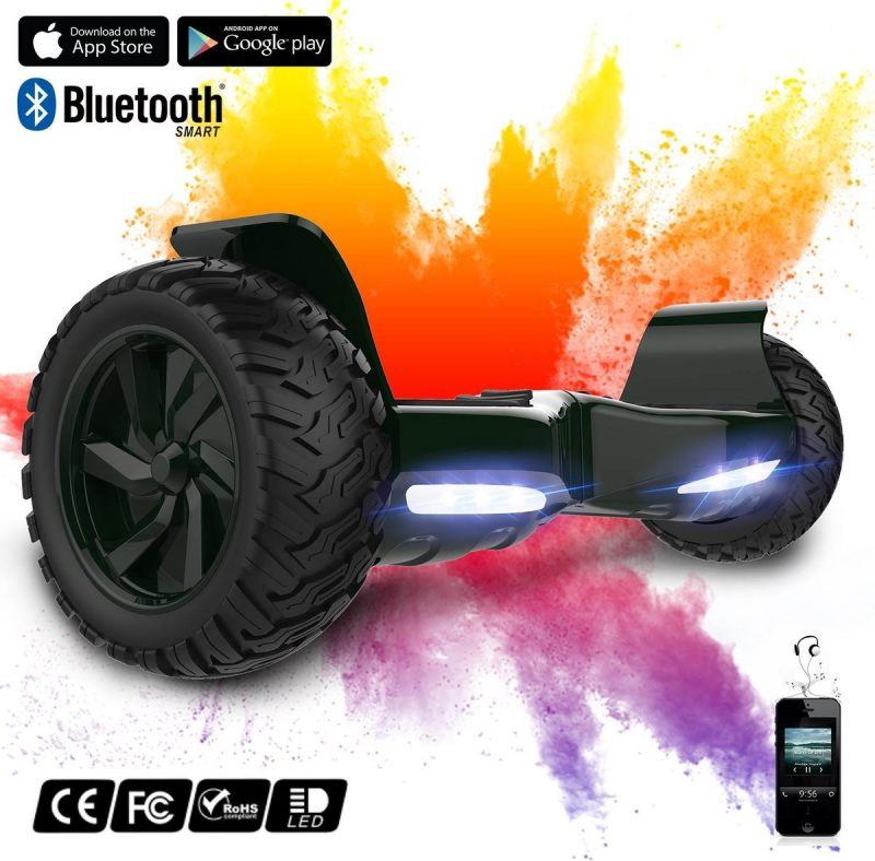 Evercross Challenger Basic Best 8.5 inch SUV Hoverboard met APP Functie 700W Motion V.12 Bluetooth speakers en met TAOTAO moederbord - Groen