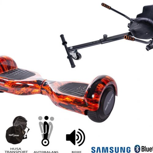 Hoverboard | 6.5 Inch Wielen | Self Balance Hoverboard Met Hoverkart| Oxboard | Bluetooth Speakers | Flame