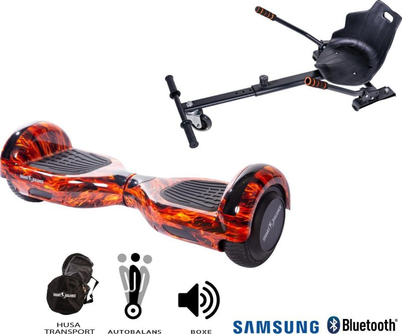 Hoverboard | 6.5 Inch Wielen | Self Balance Hoverboard Met Hoverkart| Oxboard | Bluetooth Speakers | Flame