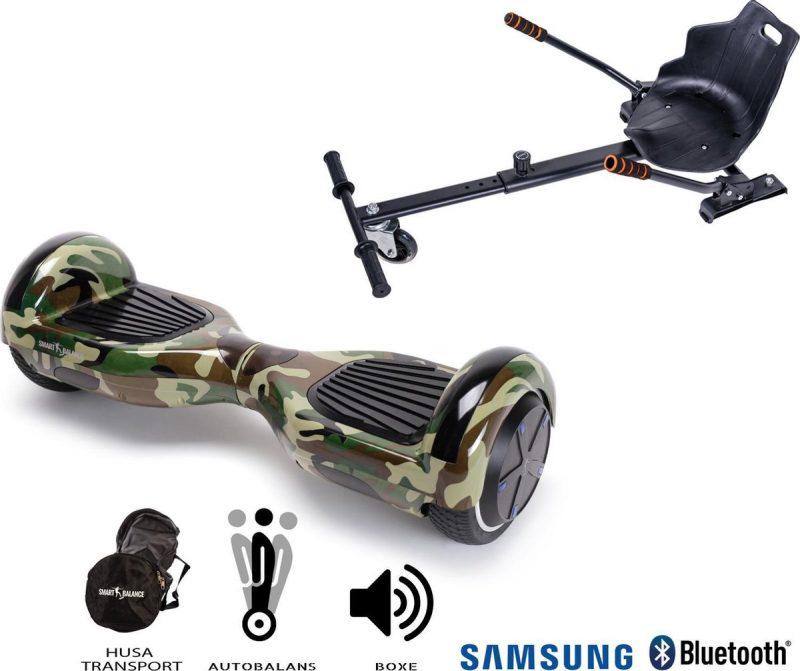 Hoverboard   6.5 Inch Wielen   Self Balance Hoverboard met Hoverkart  Oxboard   Bluetooth Speakers   Camouflage