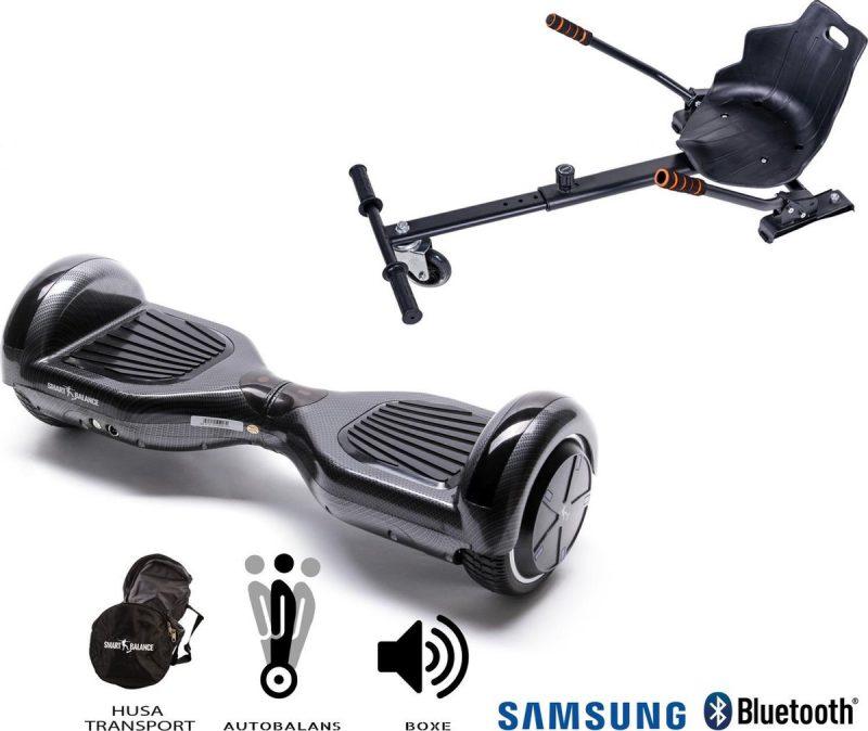 Hoverboard   6.5 Inch Wielen   Self Balance Hoverboard met Hoverkart   Oxboard   Bluetooth Speakers   Carbon