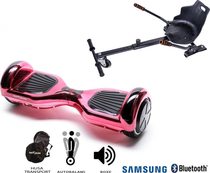 Hoverboard | 6.5 Inch Wielen | Self Balance Hoverboard met Hoverkart | Oxboard | Bluetooth Speakers | Electric pink