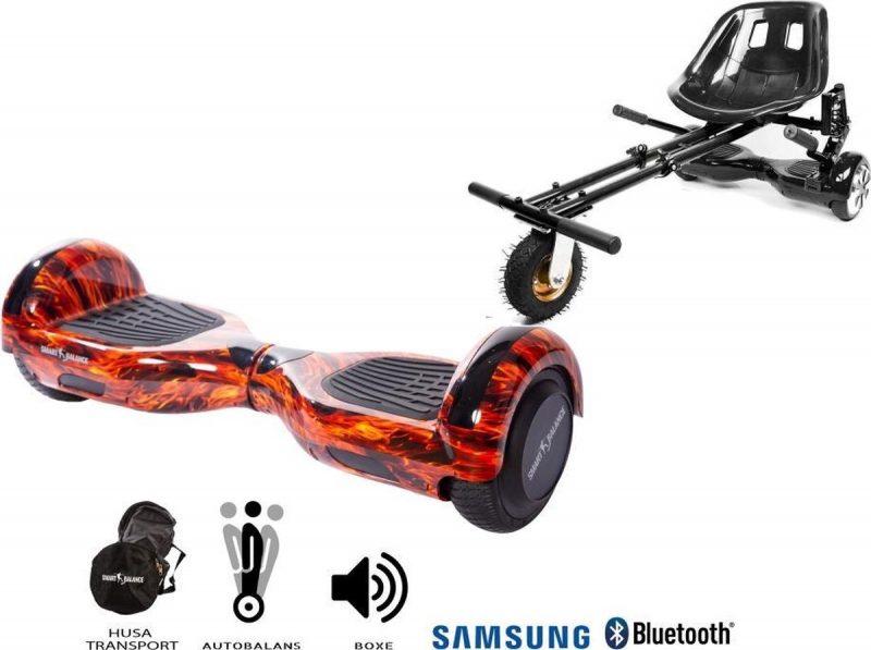 Hoverboard   6.5 Inch Wielen   Self Balance Hoverboard met Hoverkart   Oxboard   Bluetooth Speakers   Flame