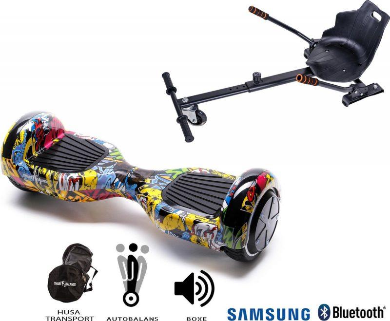 Hoverboard   6.5 Inch Wielen   Self Balance Hoverboard met Hoverkart   Oxboard   Bluetooth Speakers   Hiphop