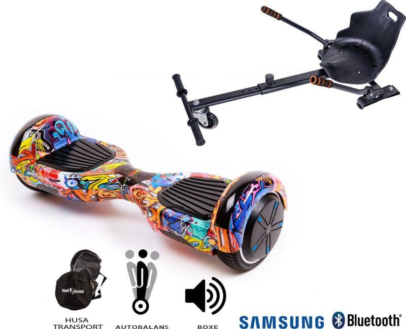 Hoverboard | 6.5 Inch Wielen | Self Balance Hoverboard met Hoverkart | Oxboard | Bluetooth Speakers | Hiphop Orange