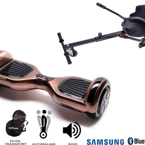 Hoverboard | 6.5 Inch Wielen | Self Balance Hoverboard met Hoverkart | Oxboard | Bluetooth Speakers | Iron