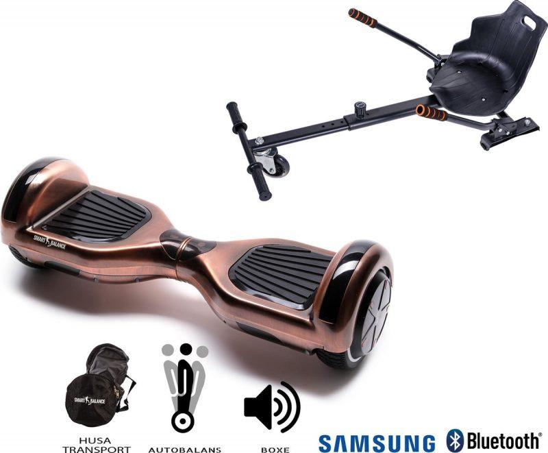 Hoverboard   6.5 Inch Wielen   Self Balance Hoverboard met Hoverkart   Oxboard   Bluetooth Speakers   Iron