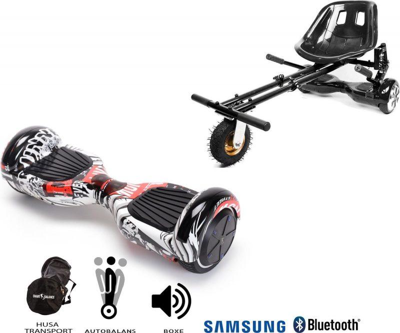 Hoverboard | 6.5 Inch Wielen | Self Balance Hoverboard met Hoverkart | Oxboard | Bluetooth Speakers | Last Dead