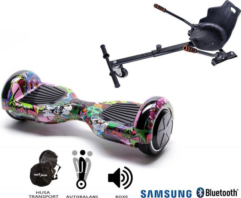 Hoverboard   6.5 Inch Wielen   Self Balance Hoverboard met Hoverkart  Oxboard   Bluetooth Speakers   Multicolor