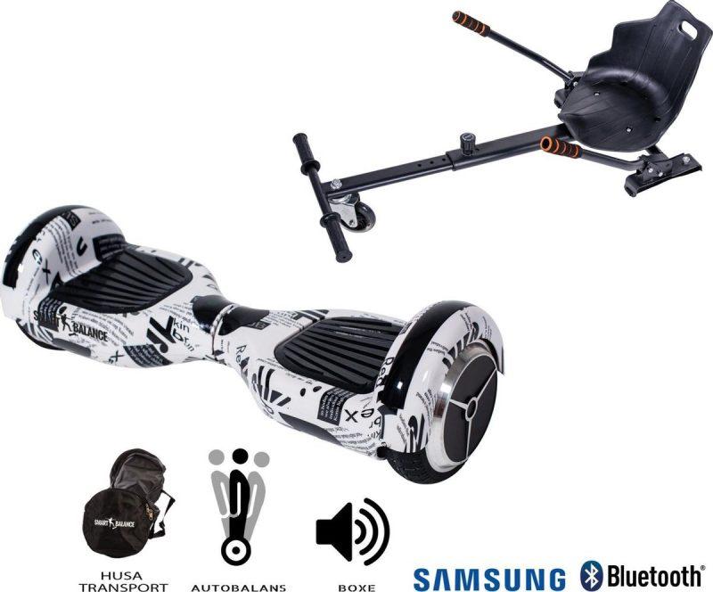 Hoverboard | 6.5 Inch Wielen | Self Balance Hoverboard met Hoverkart| Oxboard | Bluetooth Speakers | Newspaper