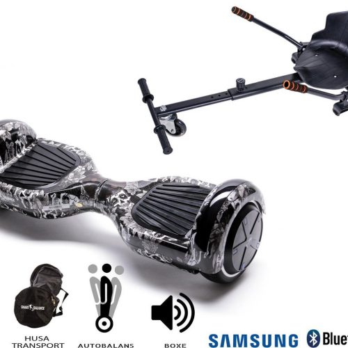 Hoverboard | 6.5 Inch Wielen | Self Balance Hoverboard met Hoverkart | Oxboard | Bluetooth Speakers | Skull Head