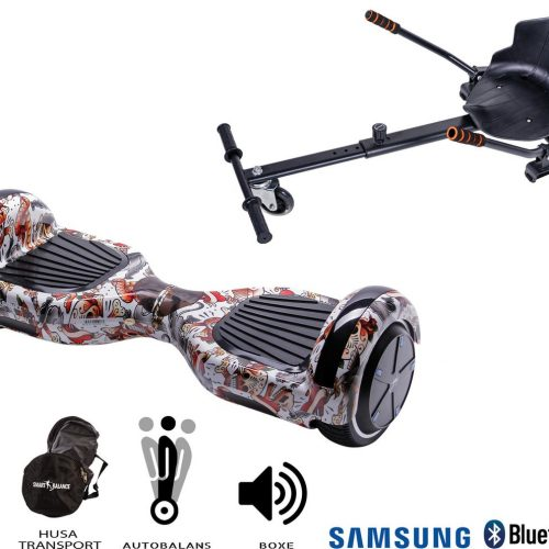 Hoverboard | 6.5 Inch Wielen | Self Balance Hoverboard met Hoverkart | Oxboard | Bluetooth Speakers | Tattoo