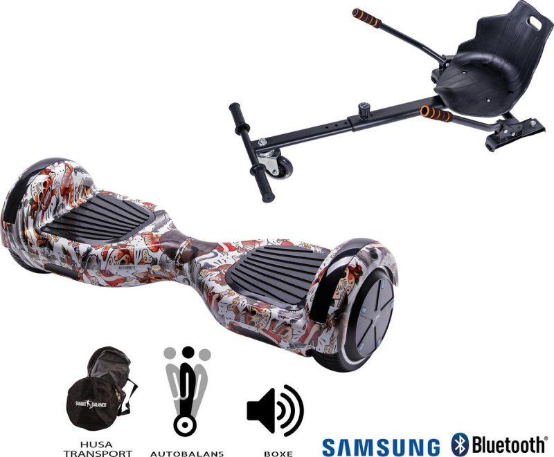 Hoverboard | 6.5 Inch Wielen | Self Balance Hoverboard met Hoverkart | Oxboard | Bluetooth Speakers | Tattoo