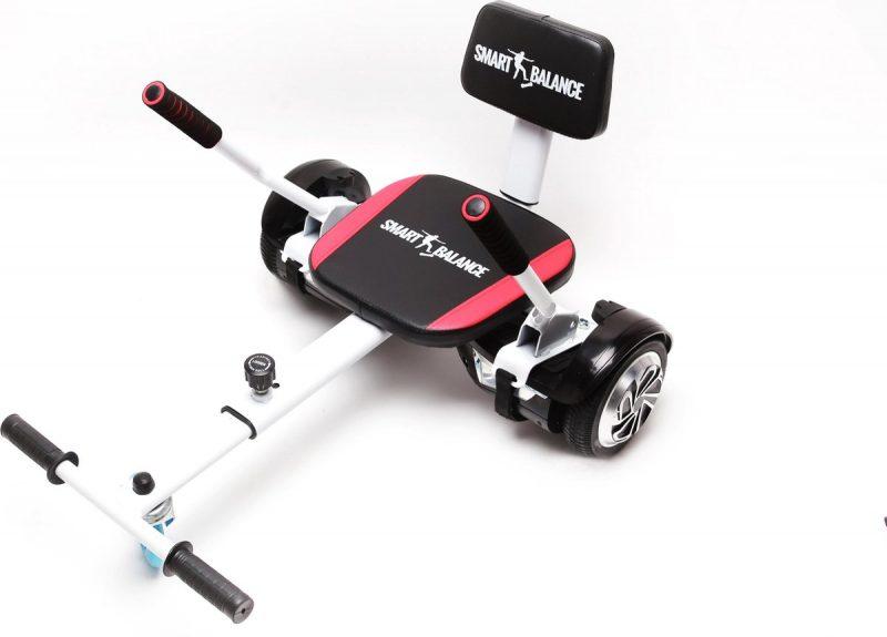 Hoverseat, Hoverkart met spons voor Hoverboard, Kleur zwart, instelbaar voor alle leeftijden, past op alle hoverboards 6,5 '', 8 '', 10 ''