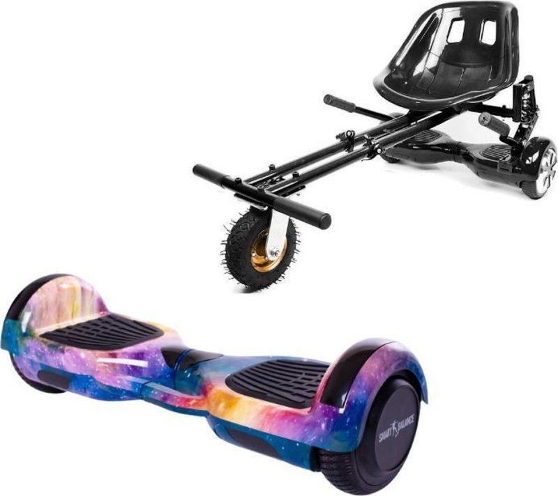Smart Balance™ Hoverboard 6.5 inch, Regular Galaxy Orange Handle + Bagsæde med ophæng, Motor 700 Wat, Bluetooth,LED