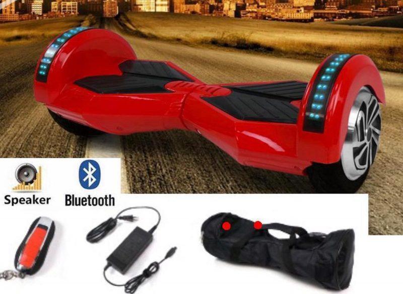 "The Scootershop GP Hoverboard, Rood, 8"" wielen, TAOTAO, 20cell accu, Bluetooth, APP functie, Draagtas"