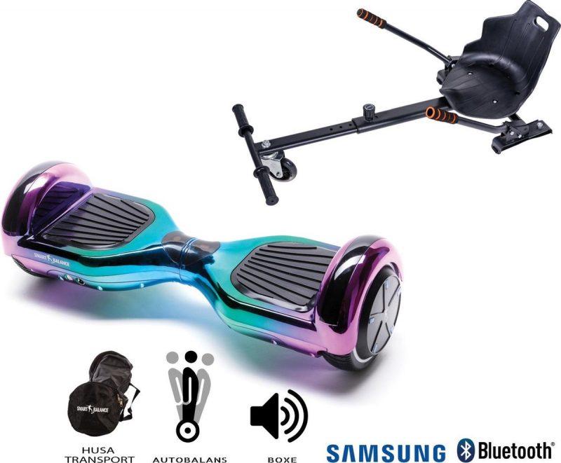 Pakket Smart Balance™ Hoverboard 6.5 inch, Regular Dakota met HoverKart , Motor 700 Wat, Bluetooth, LED