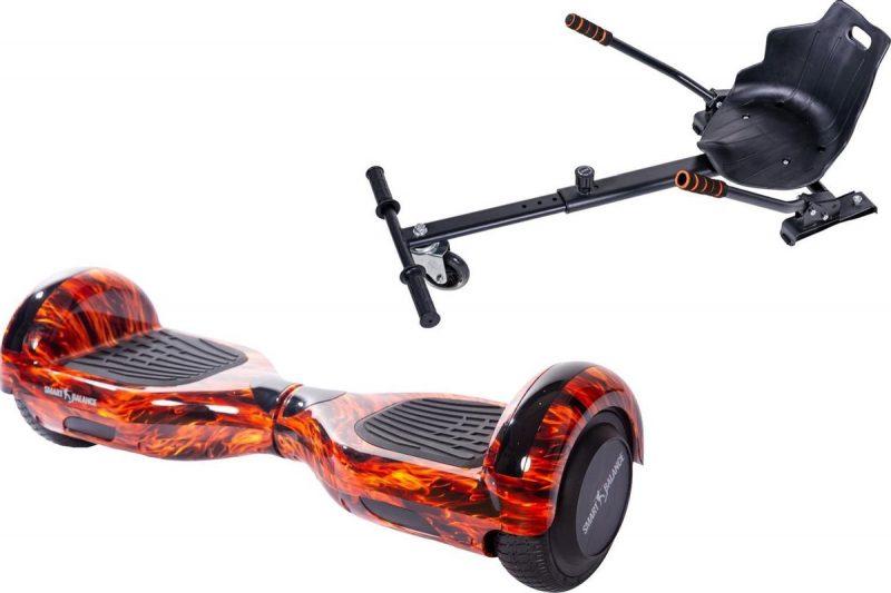 Pakket Smart Balance Hoverboard 6.5 inch, Regular Flame met HoverKart, Motor 700 Wat, Bluetooth, LED