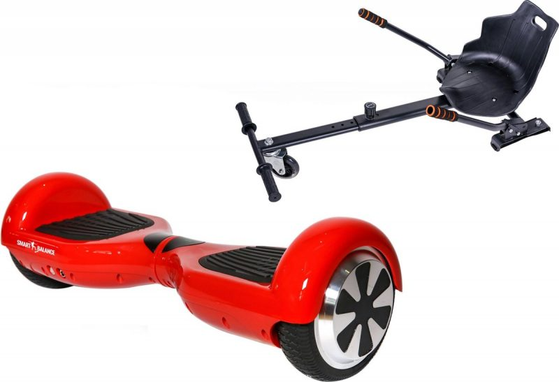 Pakket Smart Balance Hoverboard 6.5 inch, Regular Red ACBK met Hoverkart