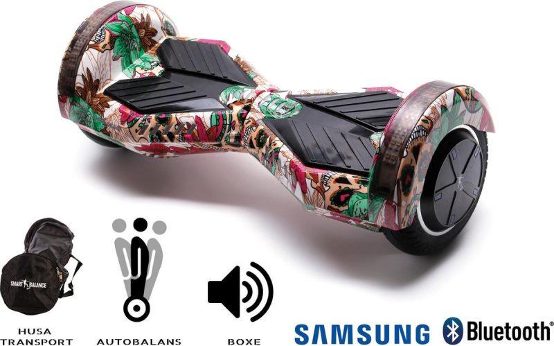 Smart Balance Hoverboard 6.5 inch, Transformers Skull Color, Motor 700 Wat, LED