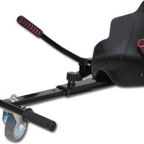 Hoverkart uitschuifbaar voor Hoverboard Zwart past op alle hoverboarden 6,5 8 en 10 inch
