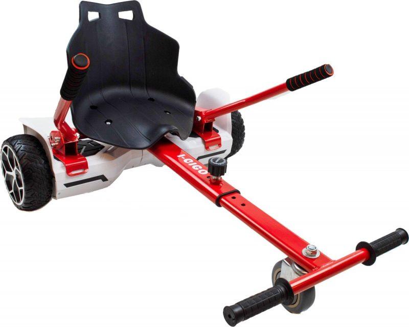 Hoverseat hoverkartje voor hoverboard - Smart City Wheels Rood