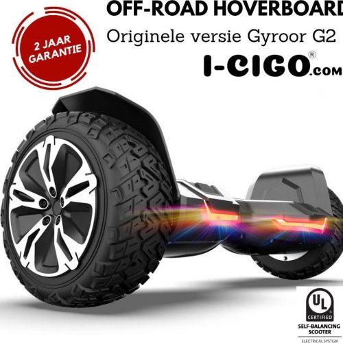 I-CIGO - Originele Gyroor G2- Off-road hoverboard 8.5inch- UL 2272 hoogste niveau veiligheidskeuringscertificaat - uniek App funcite - Bluetooth speakers.