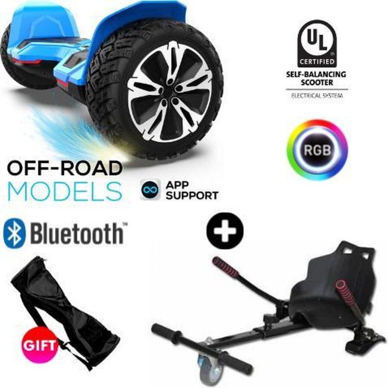 Gyroor | G2 | Hoverboard met Hoverkart |8.5 Inch Wielen | Oxboard | Elektrische Step Alternatief | Blauw