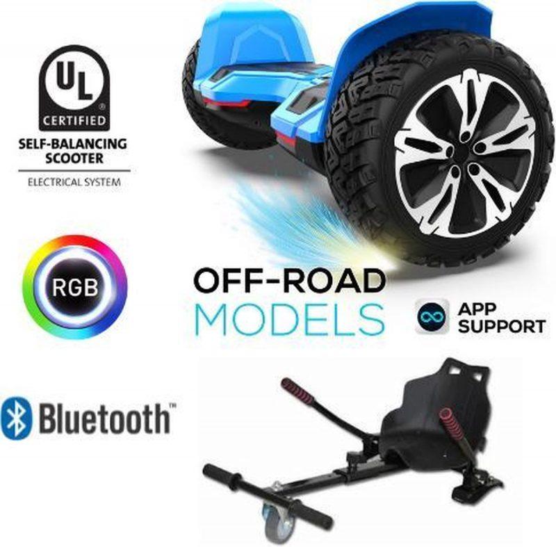 Gyroor G2| Hoverboard met Hoverkart |8.5 Inch Wielen | Oxboard | Elektrische Step Alternatief | Blauw