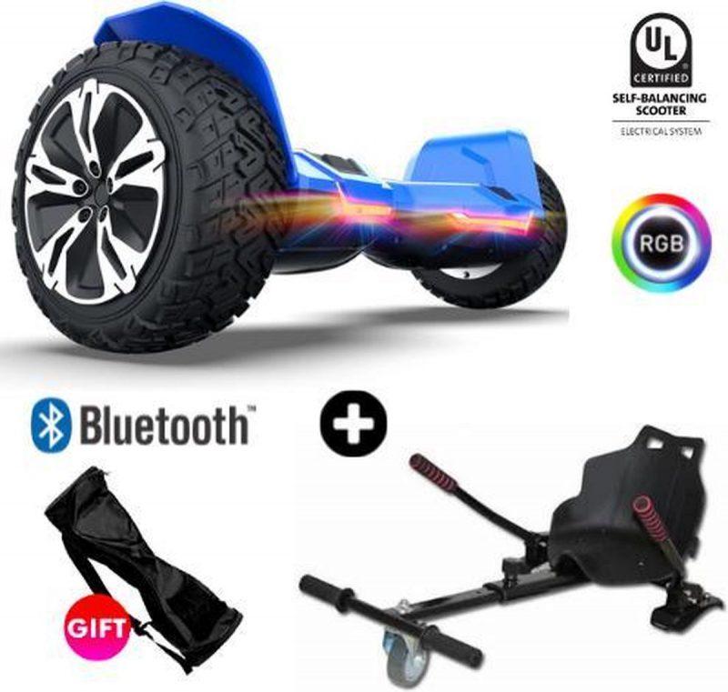 Gyroor |G2| Hoverboard met Hoverkart |8.5 Inch Wielen | Oxboard | Elektrische Step Alternatief | Blauw