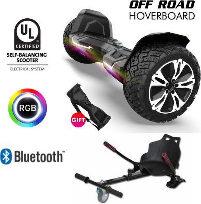 Gyroor | G2 | Hoverboard met Hoverkart |8.5 Inch Wielen | Oxboard | Elektrische Step Alternatief | Zwart