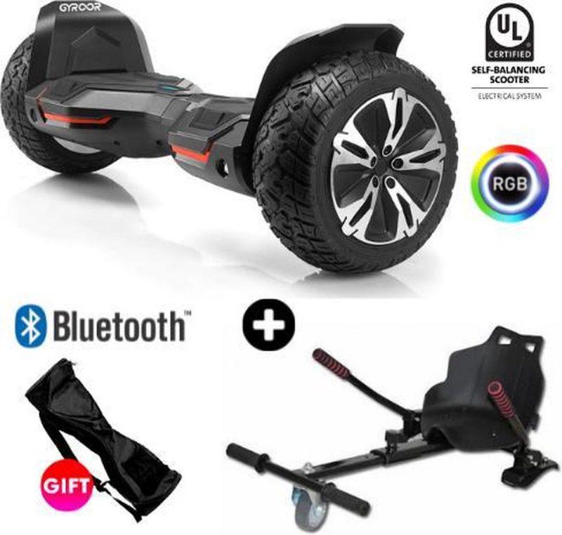 Gyroor |G2| Hoverboard met Hoverkart |8.5 Inch Wielen | Oxboard | Elektrische Step Alternatief | Zwart