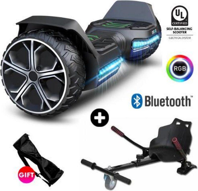 Hoverboard   GYROOR G5   Off-Road Hoverboard   6.5 Inch wielen   Self Balance Hoverboard   Bluetooth Speakers   Oxboard   Zwart
