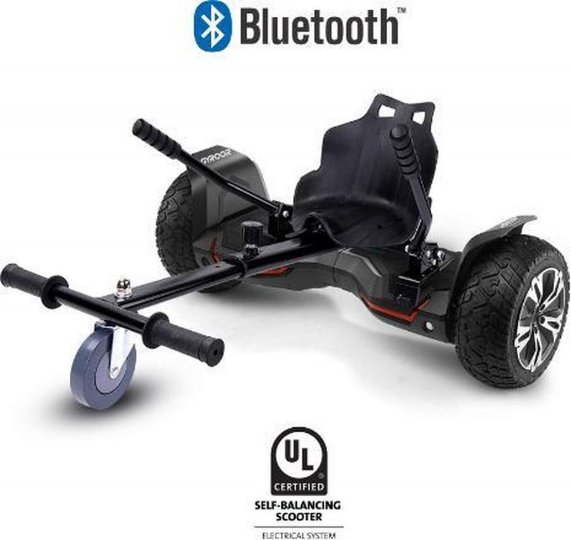Hoverboard met Hoverkart |8.5 Inch Wielen | Oxboard | Elektrische Step Alternatief | Gyroor G2 Zwart
