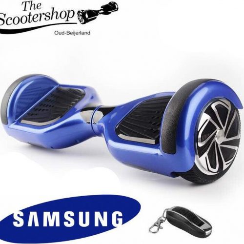 The Scootershop 20cell SAMSUNG & TAOTAO - 700Watt Hoverboard met Led & afstandsbediening - Blauw