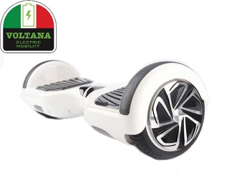VOLTANA Hoverboard WIT, TAOTAO, SAMSUNG, Led verlichting, Aluminium Design velgen, Rubberen bumpers
