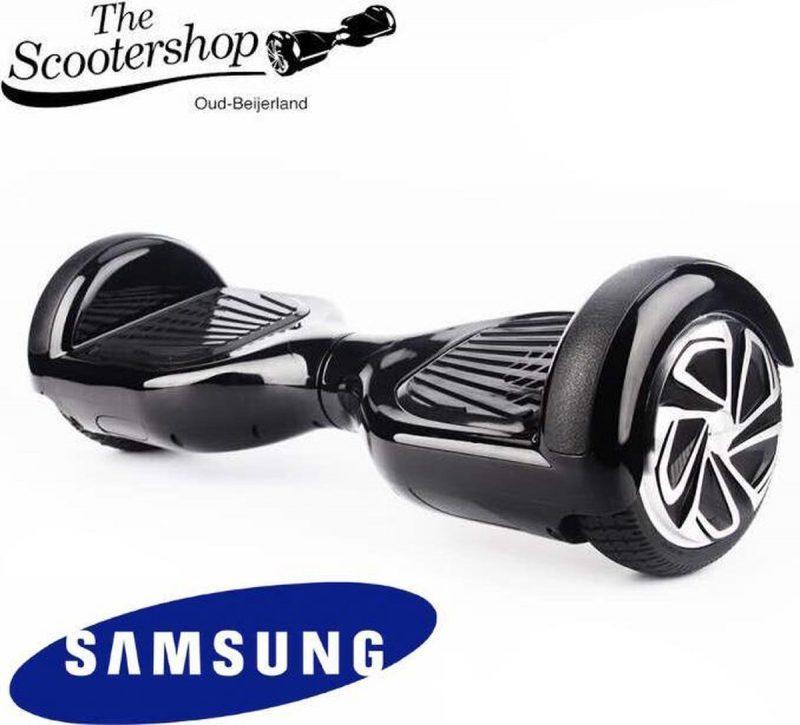 The Scootershop Hoverboard ZWART, TAOTAO, SAMSUNG, Led verlichting, Aluminium Design velgen, Rubberen bumpers