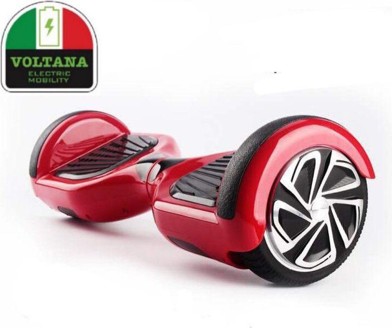 VOLTANA Hoverboard ROOD, TAOTAO, SAMSUNG, Led verlichting, Aluminium Design velgen, Rubberen bumpers