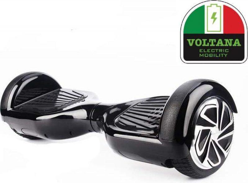 VOLTANA Hoverboard ZWART, TAOTAO, SAMSUNG, Led verlichting, Aluminium Design velgen, Rubberen bumpers