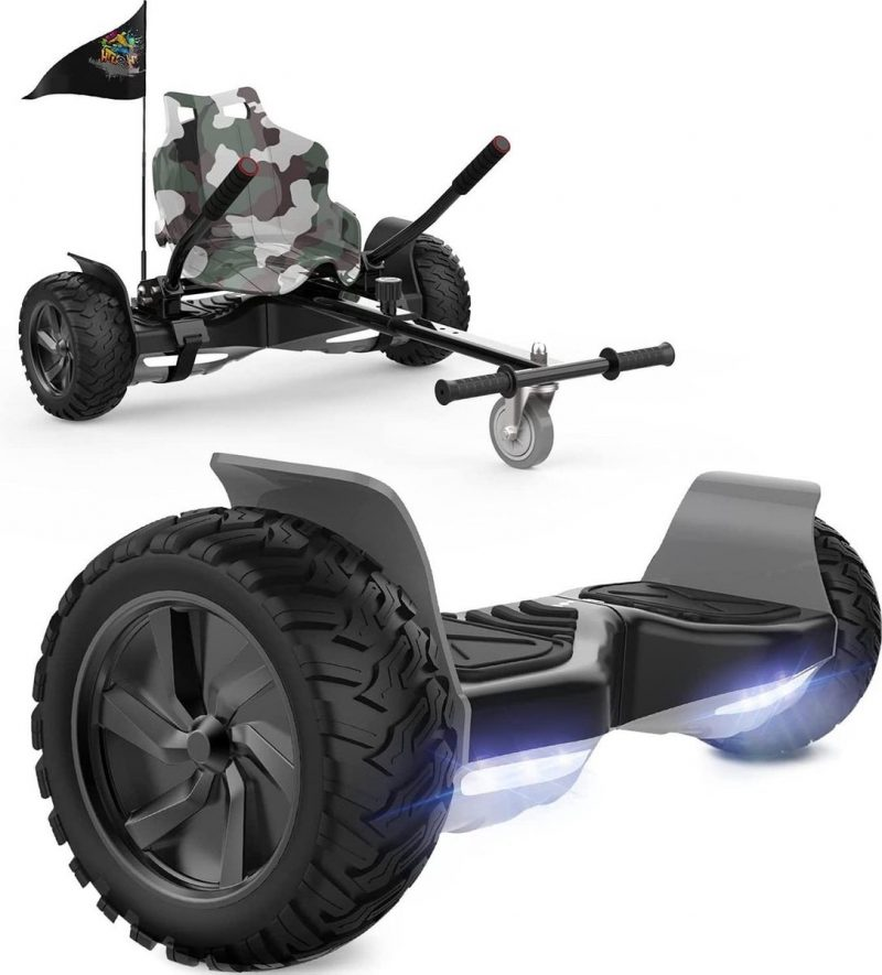 Evercross Challenger Hoverboard 8.5 Inch | 700W | Bluetooth Speaker | Camouflage + Hoverkart Camouflage