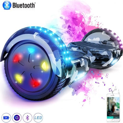 Evercross Hoverboard 6.5 Inch | Flits Wielen | Bluetooth Speaker | LED verlichting | Camouflage