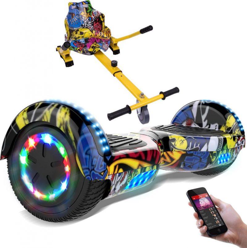 Evercross Hoverboard 6.5 Inch   Flits Wielen   Bluetooth Speaker   LED verlichting   Hiphop + Hoverkart Hiphop