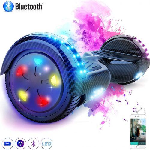 Evercross Hoverboard 6.5 Inch | Flits Wielen | Bluetooth Speaker | LED verlichting | Koolzwart
