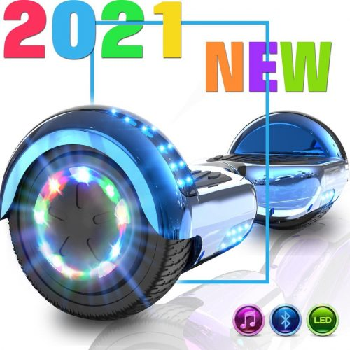 Hoverboard | Evercross | Bluetooth Speaker | Oxboard | LED verlichting | Blauw Chroom